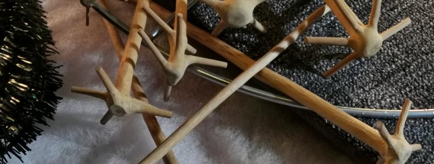 Fertige Quirle aus dem Holz vom Weihnachtsbaum